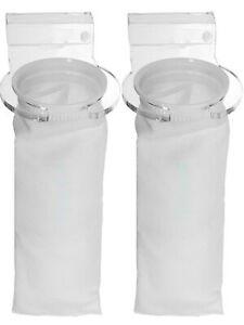 2X 4 Inch Bubble Magus Filter Sump Micron Sock Bag Bracket Holder Marine Fish !
