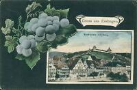 Ansichtskarte Esslingen Marktplatz mit Burg  (Nr.718)