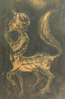 Rare Textured Painting by Jamaican Artist Ken Abendana Spencer (1929-2005)