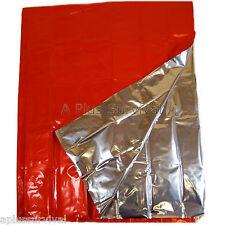 2 Pack Orange Silver Heavy Duty Emergency Survival Safety Mylar Solar Blanket