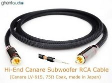 E04 (1m 3ft) ---  Hi-End Canare Subwoofer 75Ω Coax RCA/Phono (m/m) Audio Cable