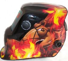 Auto Oscurecimiento Casco Soldadura Soldadores Máscara H8-718G llameante Dama Diseño