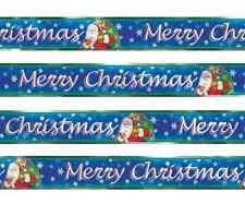 Joyeux Noël 12ft feuille bannière Santa Nuit Avant Noël