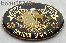 2001  DAYTONA FLORIDA BIKE WEEK ENAMEL JACKET VEST HAT TAC PIN