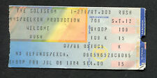 1984 Rush Gary Moore concert ticket stub Richfield Oh Grace Under Pressure