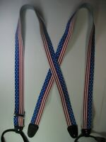 3 USA MADE Button On Leather Replacement Ears or Convert Your Suspenders.