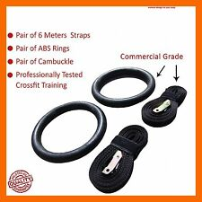 GYM RINGS GYMNASTIC RING PULL UP BAR FITNESS EXERCISE KETTLEBELL STRENGTH STRAPS