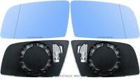 Spiegelglas Außenspiegel für BMW 5er E60 E61 6er blau beheizt links + rechts Set