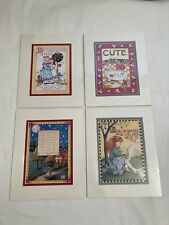New listing Mary Engelbreit Matted Art Prints, Set Of 4