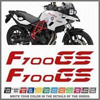 2x F700 GS Red BMW Motorrad ADESIVI PEGATINA STICKERS AUTOCOLLANT AUFKLEBER