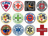 First Aid Patches CPR, AED, EMT, Medic Patch, Paramedic, Red Cross Iron-On Badge