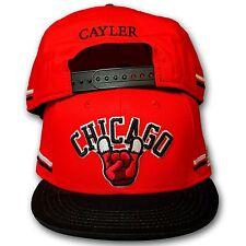 Original Cayler & Sons Snapback Cap Chicago Horns rot/schwarz/weiss