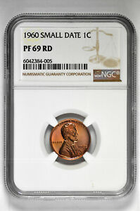 1960 Small Date Proof 1C Lincoln Memorial Cent NGC PF 69 RD