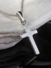 Sterling Silver 925 Small Childrens Cross 16'' Chain Necklace Christening Gift