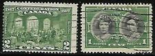 1927 - 2 Canada - Fathers of Confederation Issue green, Scott # 142 stamps