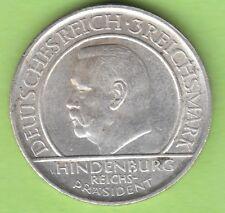 3 Reichsmark 1929 G Schwurhand selten nswleipzig