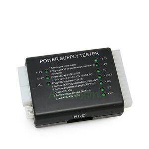 PC Computer 20/24 Pin 4pin 6pin 8pin ATX SATA HDD Floppy LED Power Supply Tester