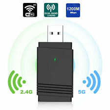 1200Mbps USB 3.0 Wireless WiFi Adapter Dongle Dual Band 5Ghz Bluetooth For PC