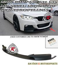 M Sport Performance Style Front Lip (PP) Fits 12-18 BMW F30 F31 3-Series Sedan