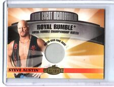 WWE Stone Cold Steve Austin 2001 Fleer Championship Clash Used Ring Skirt Card W