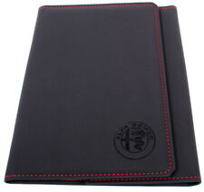 Alfa Romeo Handbook Document Wallet Holder Black / Red Stitching New 60438872