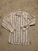 Burberry London Mens Vintage Check Long Sleeve Shirt USA Made L Neiman Marcus