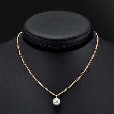 Vintage Velvet Chain Pearl Pendant Choker Collar Necklace Gothic Punk Jewelry
