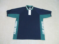 Izod Polo Shirt Adult Extra Large Blue Green Golfer Golfing Casual Rugby Mens