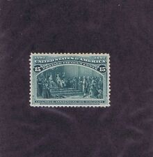 Scott# 238 Unused Og Lh 15c Columbus Announcing His Discovery, 1893, Vf-Xf