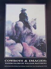 William Matthews Print Cowboys & Images Quarter Horse Museum TX 1994