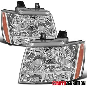 For 2007-2014 Chevy Avalanche Tahoe Suburban Headlights Lamps Replacement L+R