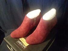 Geox Respira Marian 2 W -Goat Suede Burgundy Women's Shoe Boot Size 8 US NIB!