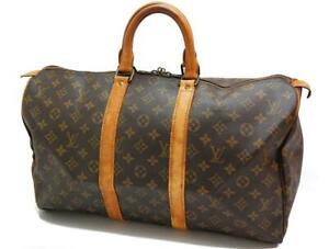 Authentic LOUIS VUITTON  MONOGRAM  KEEPALL 45 DUFFLE BAG VI862 0429a