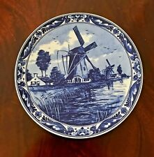 """Delft handpainted Wall Plate - Windmill 6"""""""