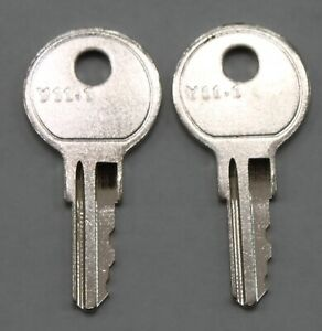 set of 2 replacement keys cut to your HON file cabinet key code 101E - 225E