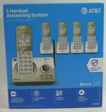 AT&T DL72519 5 Handset Answering machine w Connect to Cell Gold/White Bluetooth