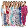 Womens Fleece Pyjamas Set Ladies Flannel Novelty Xmas Pjs Top & Bottoms Set Suit