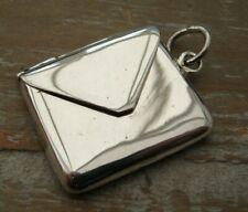 Beautiful Victorian Style Hallmarked Sterling Silver Envelope Stamp Case Holder