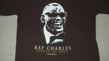 Official RAY CHARLES FATHER OF SOUL Brown T-Shirt MED Piano Movie Jamie Foxx