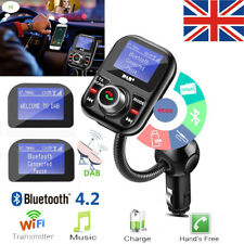 Car DAB/DAB + Radio Receiver Adapter USB AUX Bluetooth FM Transmitter w/ Antenna