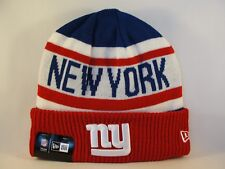New York Giants NFL New Era Cuffed Knit Hat Biggest Fan