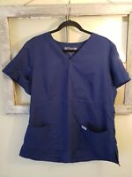 Grey's Anatomy Women's XL Blue Short Sleeve Scrub Top V Neck