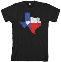 Texas State Flag With Heart Men's T-Shirt Texan Pride Love