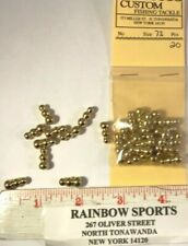 20 Vintage Snowman Style 73 Brass Spinner Lure Body Approx Size 1/16oz.