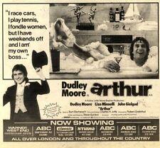 "2/1/82pgn16 DUDLEY MOORE IN ARTHUR MOVIE ADVERT 6X7"""