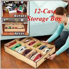 Shoe storage organiser underbed shoe box 12 pairs rack large Clean shoebox