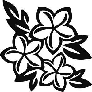 Plumeria Flower Hawaiian Vinyl Decal Tropical Island Paradise Sticker