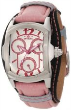 INVICTA LUPAH SILVER DIAL DAY & DATE TWO-TONE NYLON STRAP LADIES WATCH 12281 NEW