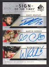 2006-07 SP Authentic Sign of Times Heatley/Gerber/Redden AUTO 17/25 Senators