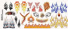 1/18 Scale Custom Tattoos for Action Figures: Flames pack - Waterslide Decals